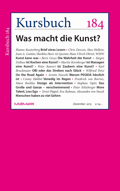 Kursbuch 184 – Editorial