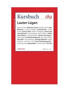 """Kursbuch 189 """"Lauter Lügen"""" im Shop"""