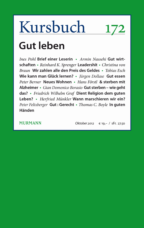 Kursbuch 172 – Editorial