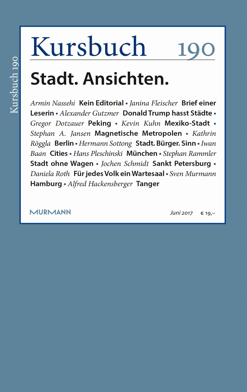 Kursbuch 190 – Kein Editorial