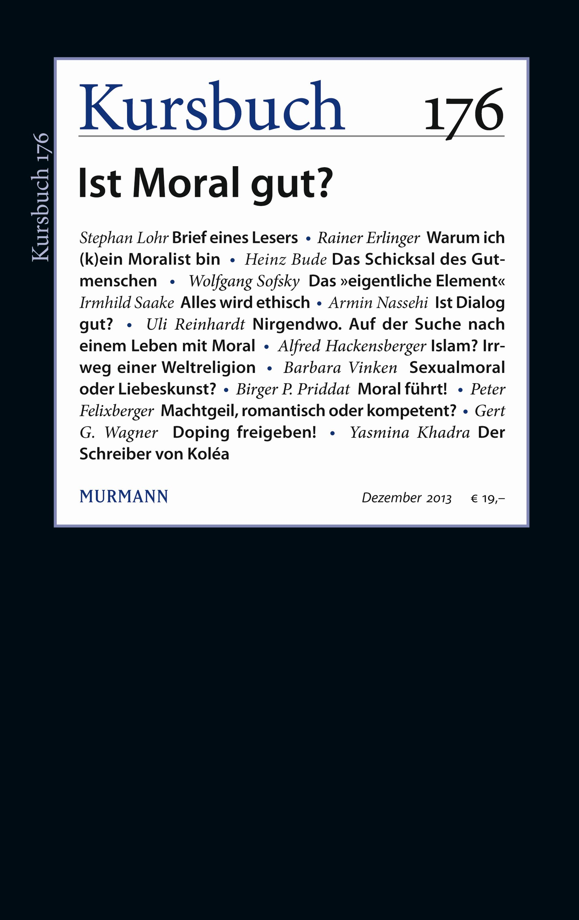 Kursbuch 176 – Editorial