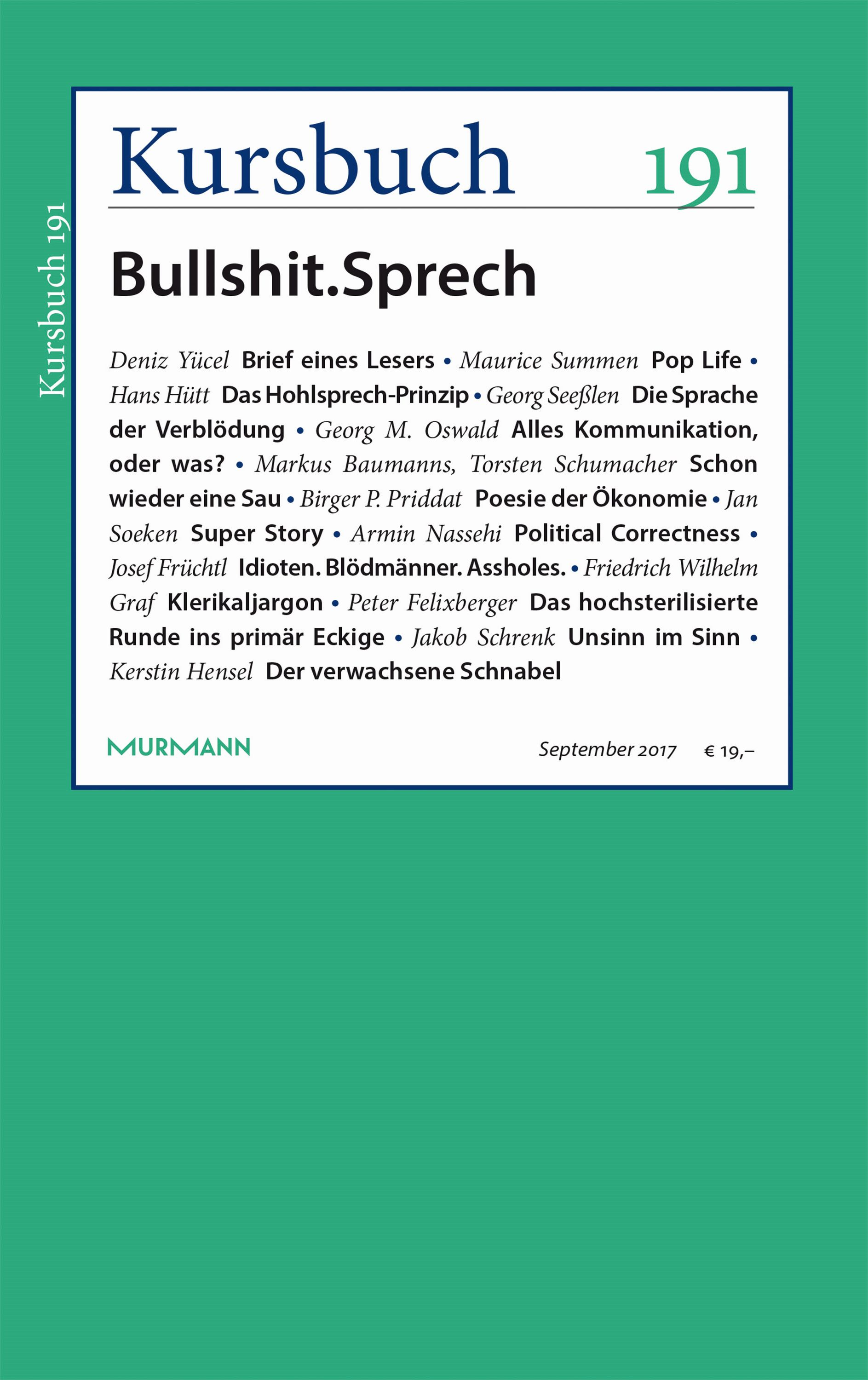 Kursbuch 191 – Editorial