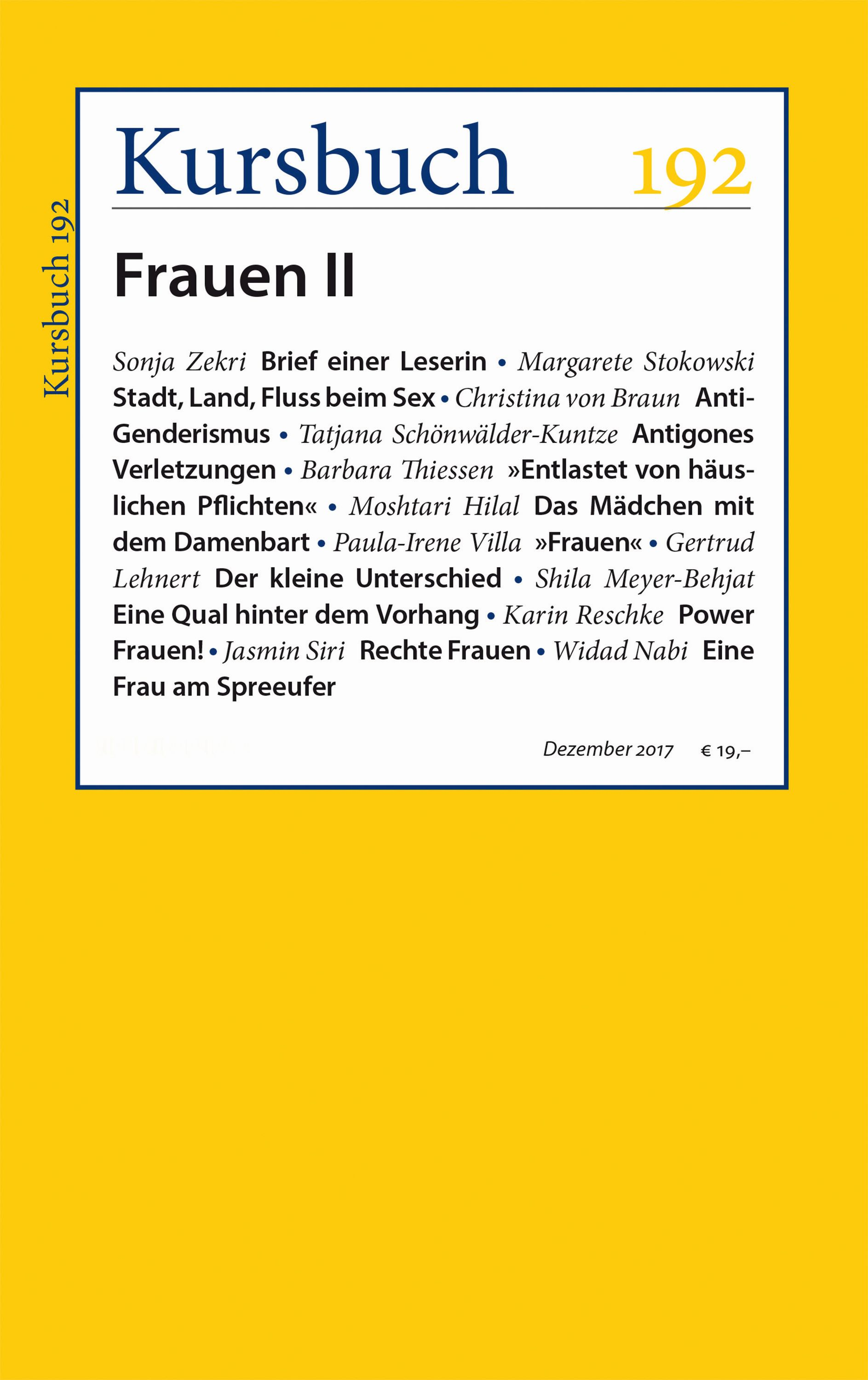 Kursbuch 192 – Editorial