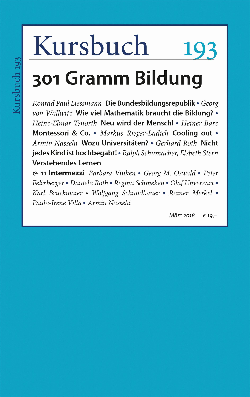 Kursbuch 193 – Editorial