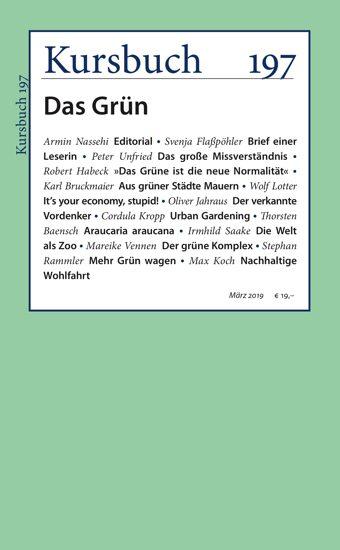 "Kursbuch 197 ""Das Grün"" Cover, 02. März 2019"
