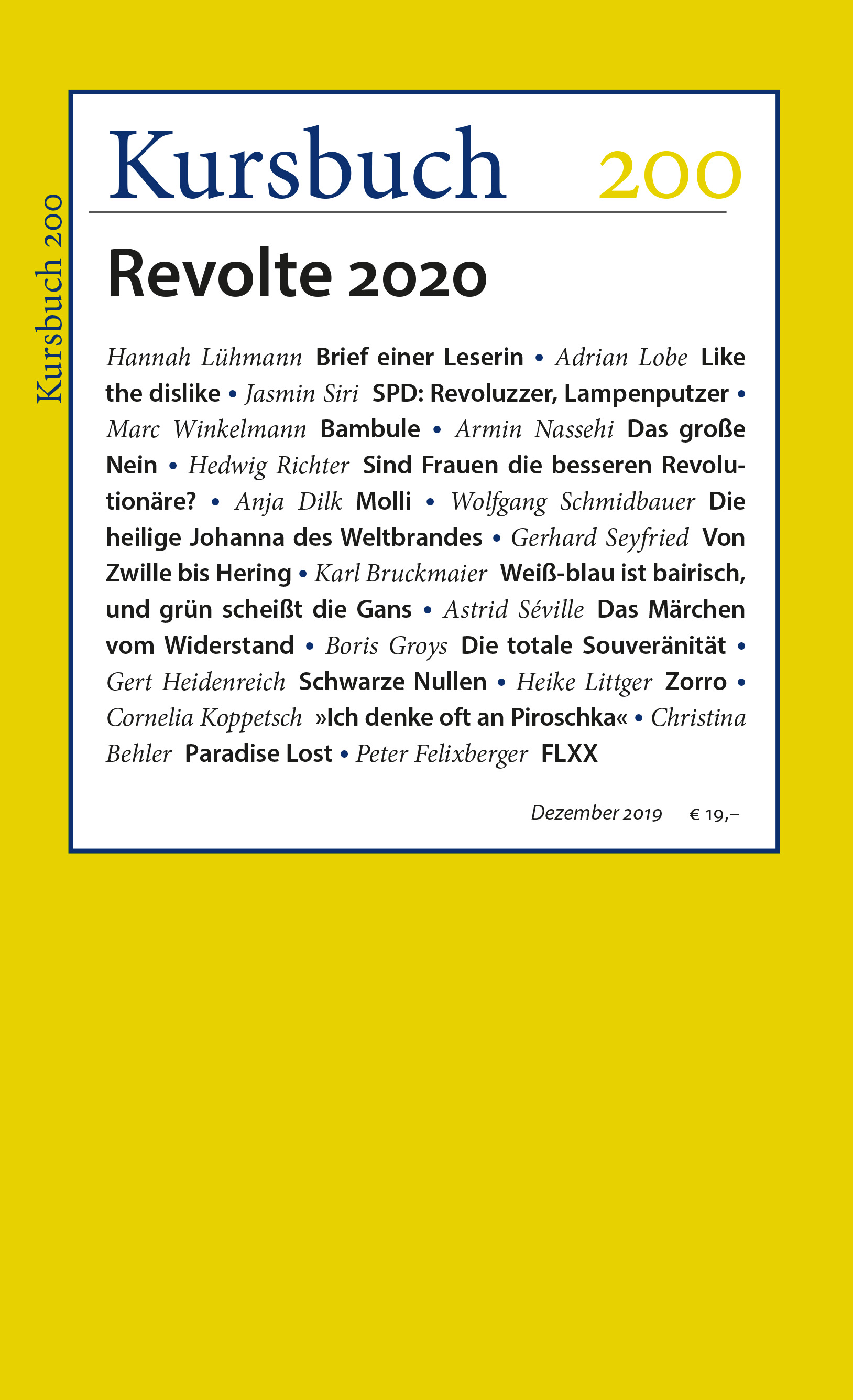 Kursbuch 200 – Editorial