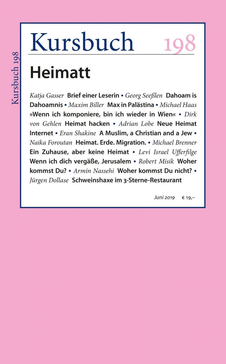 Kursbuch 198 – Editorial