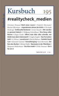 Kursbuch 195 – #realitycheck_medien