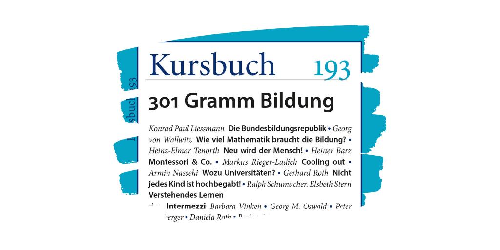 LongRead: Konrad Paul Liessmann – Die Bundesbildungsrepublik