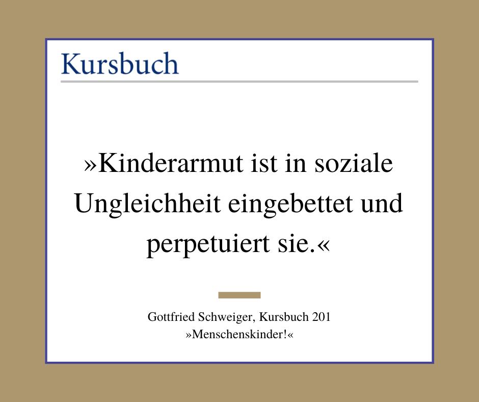 KursPod: Gottfried Schweiger – Warum Kinder arm sind