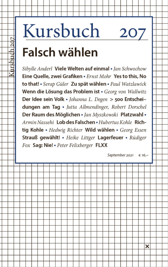 Cover Kursbuch 207